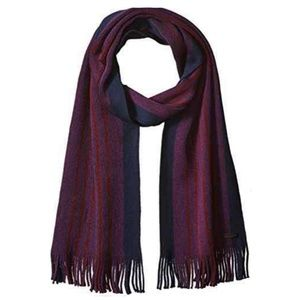 Ted Baker Men's Red Thick Stripe Scarf Raschel